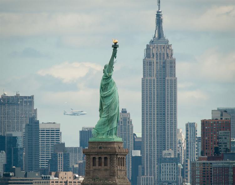 Shuttle Enterprise Over New York