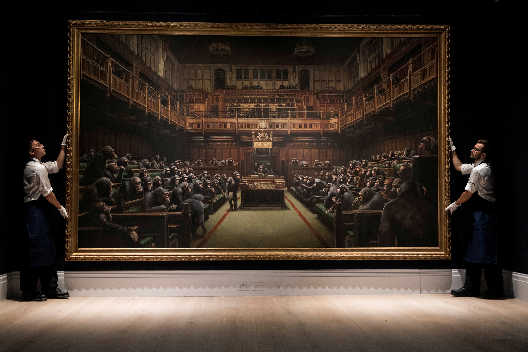 Banksy Desvolved Parliment